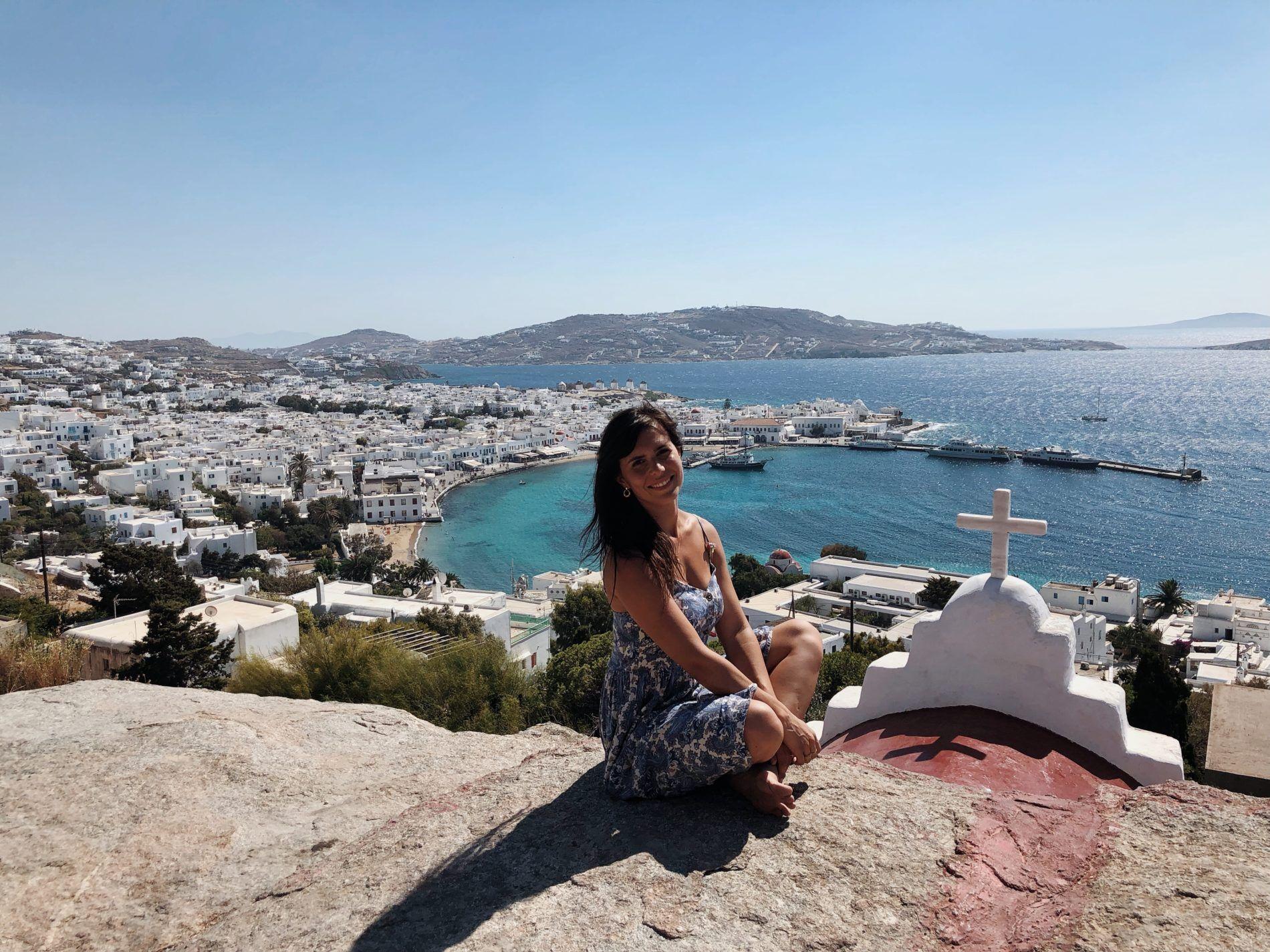 Mykonos Vue Eglise Panorama