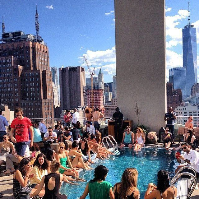 meilleur bar rooftop new york blog pool party