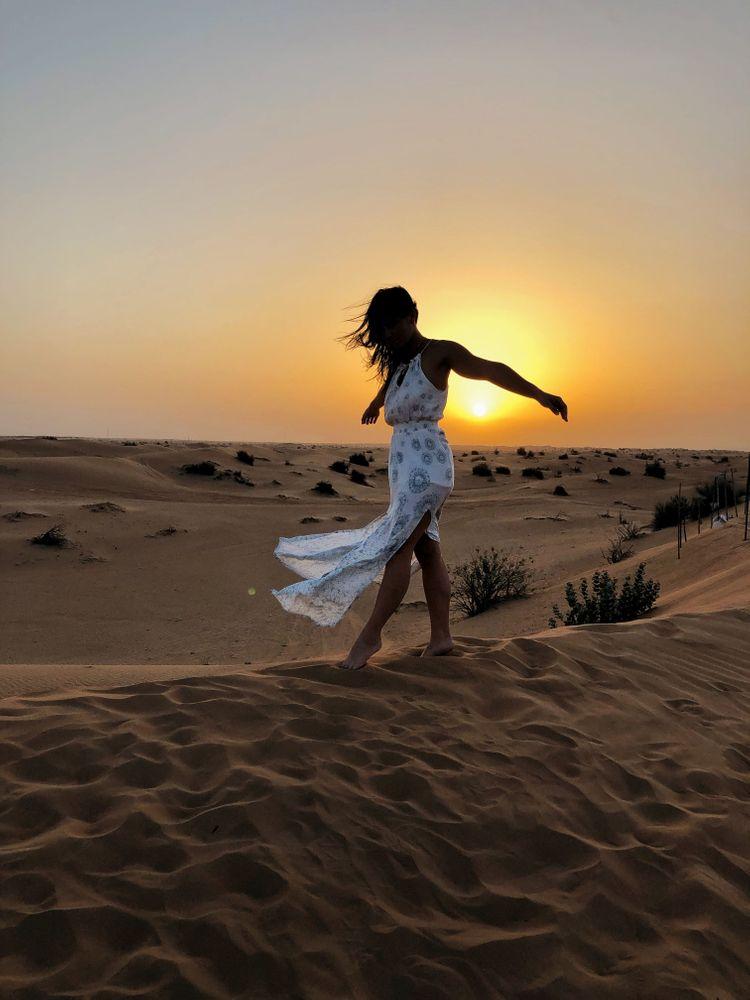 Dubai coucher de soleil désert