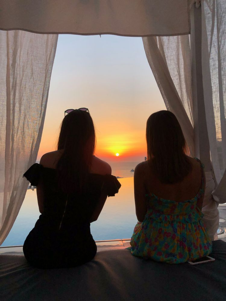 Sunset coucher de soleil Mykonos