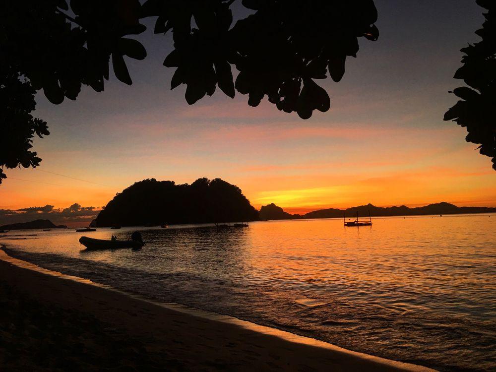 philippines coucher de soleil