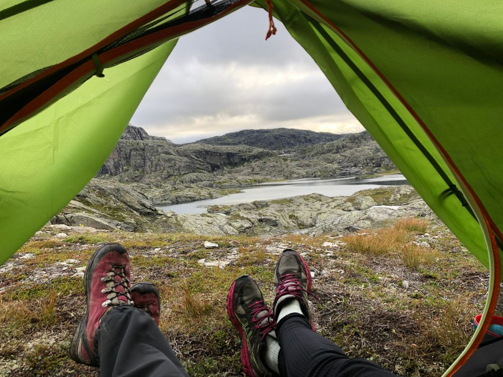 tente trolltunga camping sauvage