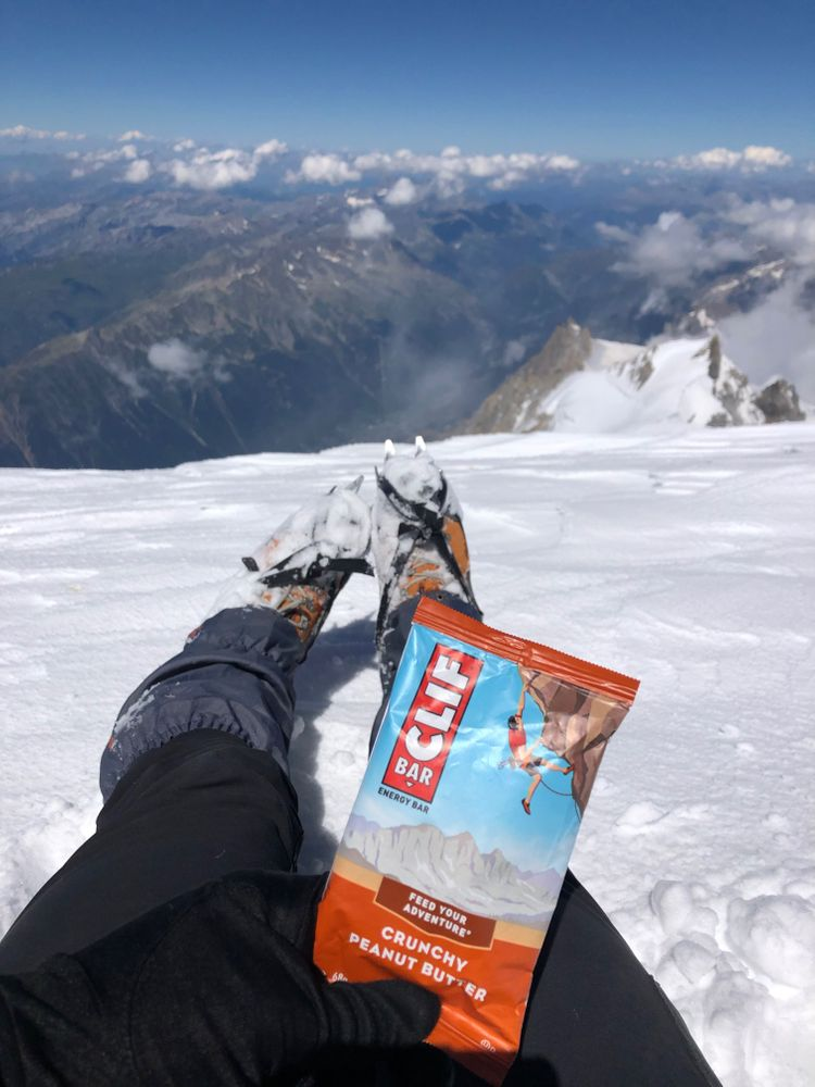 cliff bar ascension mont blanc