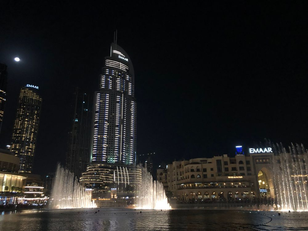 Spectacle des fontaines Burj Khalifa Dubai Mall