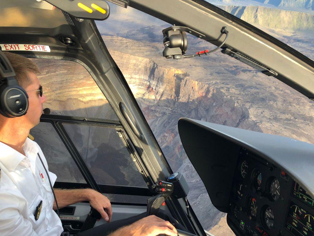 helicoptere cirques de la réunion piton de la fournaise