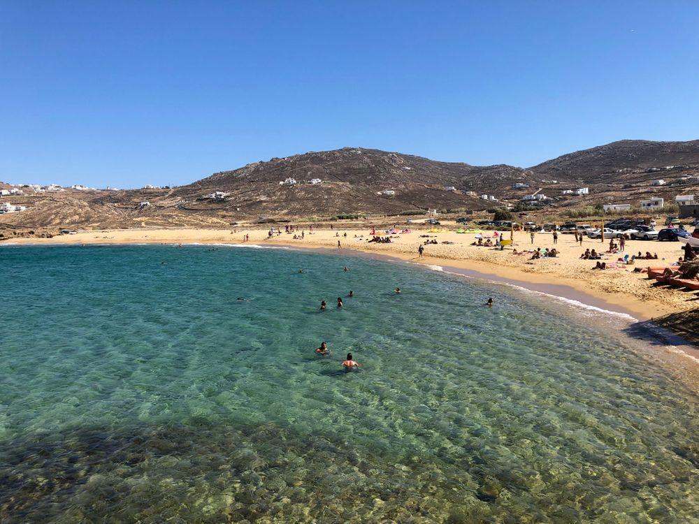 Ftelia Beach Club Mykonos Vue