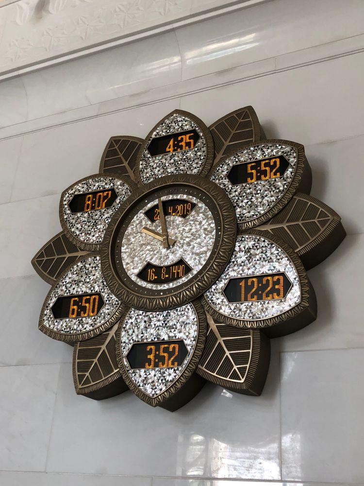 horloge luxe mosquée abu dhabi