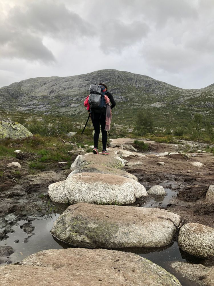 randonnée trolltunga montée