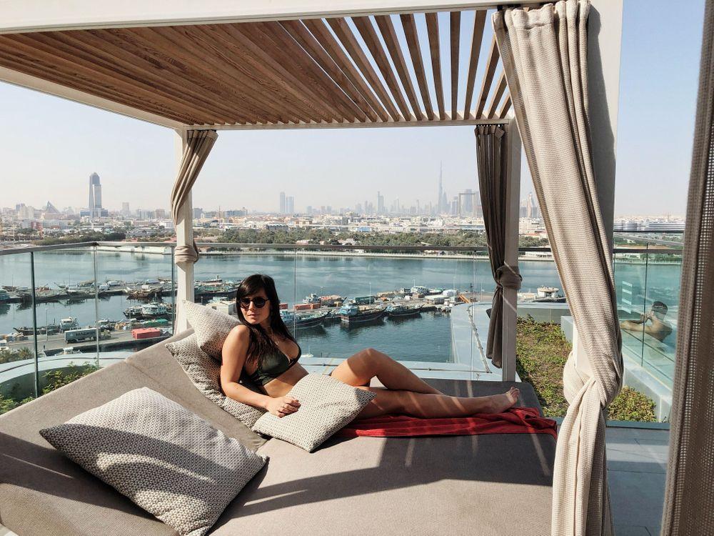Rooftop Dubai Piscine Al Bandar Rotana