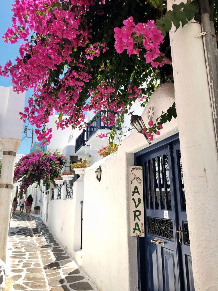 Mykonos Fleurs Ruelles