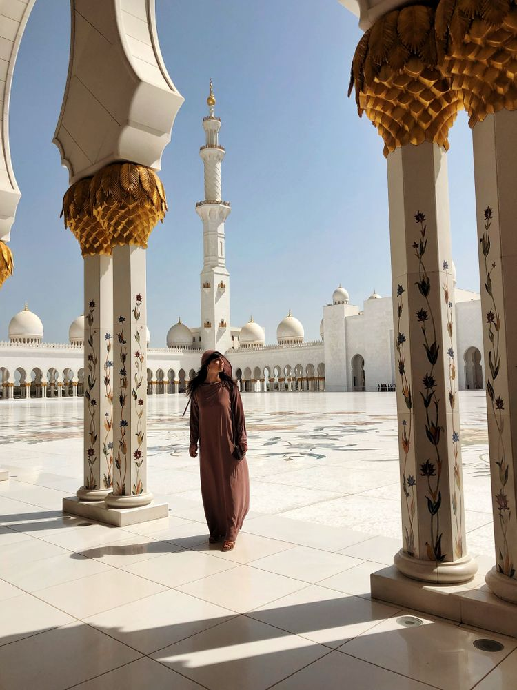 Grand mosquée blanche d'abu dhabi