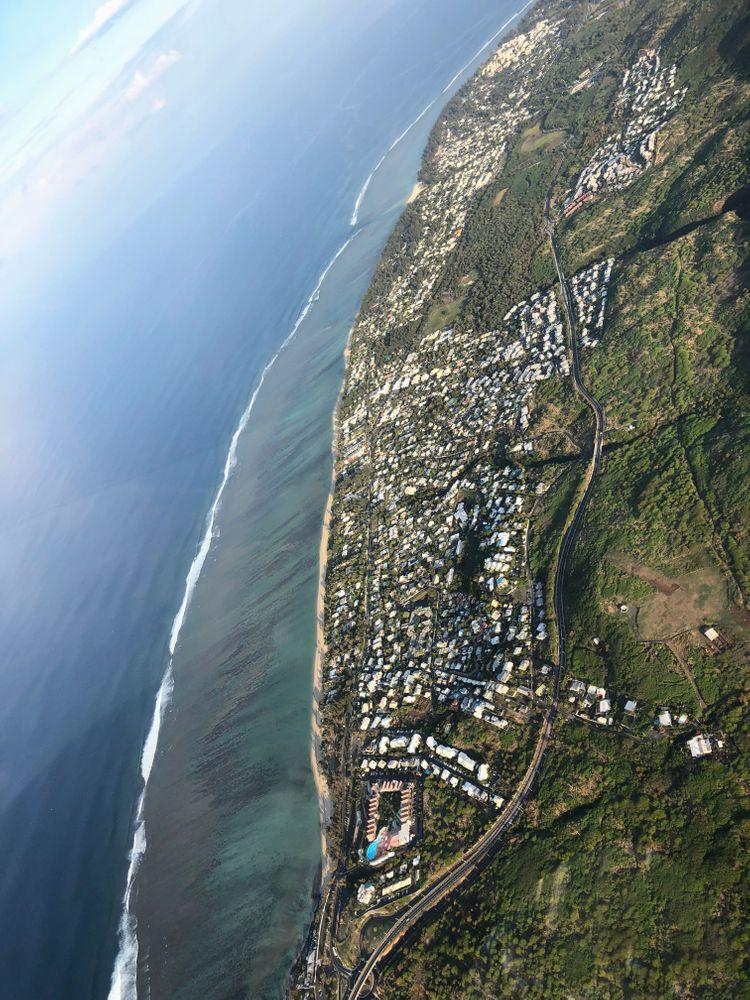 vue sur la mer baptême d'hélicoptère