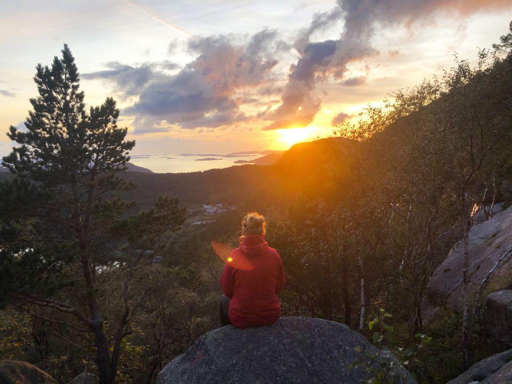 Preikestolen Randonnée Coucher de Soleil Norvège