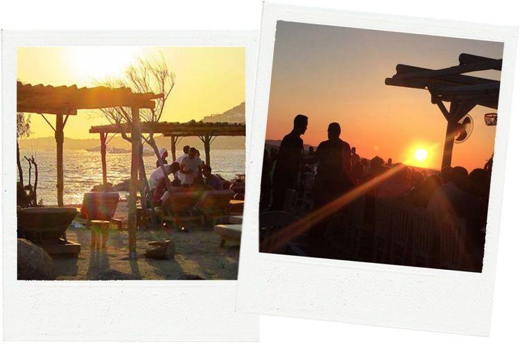 mykonos scoprios sunset